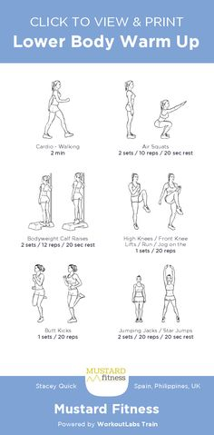 Lower Body Warm Up – free illustrated workout by Stacey Quick at Mustard Fitne. Summer Body Workouts, Leg Day Workouts, Gym Workout Videos, At Home Workouts, Wod Workout, Warm Up Cardio, Workout Warm Up, Beginner Workout At Home, Body Workout At Home