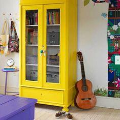 yellow closet. yes.