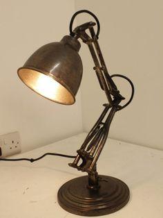 vintage industrial style desk lamp from dw vintage lighting co
