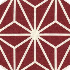 Tissu japonais Nagano bordeaux