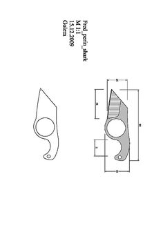tops_wind_runner_XL Model (1).pdf - OneDrive Cool Knives, Knives And Tools, Knives And Swords, Knife Template, Knife Patterns, Neck Knife, Patent Drawing, Handmade Knives, Knife Sharpening