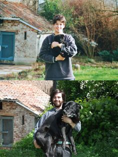 Before and After with a puppy