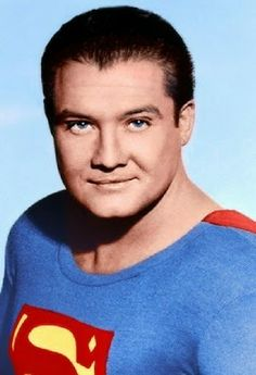 George Reeves Though I loved Christopher Reeve in his own way, this was the real Superman to me! Original Superman, My Superman, Batman, Charles Bronson, Photo Vintage, Vintage Tv, Christopher Reeve, Clark Kent, Sean Leonard