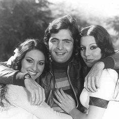 Randhir Kapoor, Rishi Kapoor, Neetu Singh, Film World, Indian Star, Indian Celebrities, Rare Photos, Beauty Photography, Cool Pictures