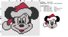 Punto De Cruz disney fab five christmas cross stitch Cross Stitch Christmas Ornaments, Xmas Cross Stitch, Cross Stitching, Cross Stitch Embroidery, Christmas Cross Stitch Patterns, Embroidery Patterns, Hand Embroidery, Disney Cross Stitch Patterns, Cross Stitch Designs