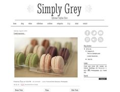 SALE - Premade Blogger Template Design - Simply Grey Blog - social icons - white and grey blog, modern, chic blog design. $36.00, via Etsy.