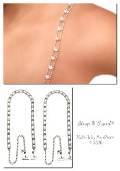 f7e5c25d93664 Heavenly Pearl Crystal Straps with Pin-Latch Bra Hooks for Dress
