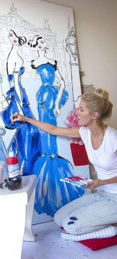 fashion art She has been painting since she was young and figured out she had a real passion for it early in her life Fashion Painting, Fashion Art, Watercolor Fashion, Drawing Fashion, Vintage Fashion, Megan Hess Illustration, Henri Matisse, Kerrie Hess, Vogue Covers