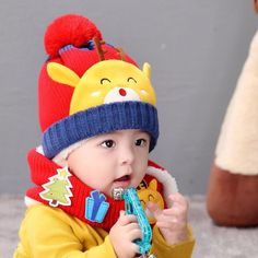 93d14a8e50c Kids Girls Boys Knitted Magic Barbie Bib Cap Baby Winter Earflap Cat  Crochet Hat  fashion  clothing  shoes  accessories  babytoddlerclothing ...