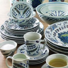 Adapted from ancient Persian designs and hand-painted, our Isphahan range of porcelain tableware is exclusive to us. #exclusive #Isphahan #Persian #tableware #oka