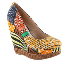 """You are eccentric, wild, yet confident! These wedges are for you! Define """"Cool"""" in any city, weather, or planet. Rock them with some skinny jeans and & trendy straw hat! Hit the town in style!"""