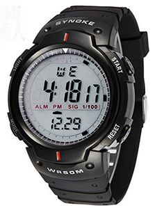 Mens Unisex Cool Waterproof Multifunction Digital Sport Watches For Aldut -- Check this awesome product by going to the link at the image. (Note:Amazon affiliate link) #CoolandAffordableWatches