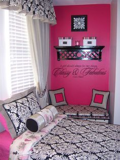 "Olivia saw this and said ""that looks like a teenager room! Can we make my room look like that?!"" Love her!"