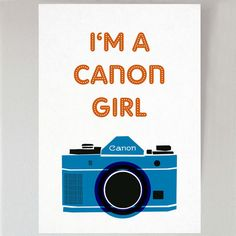 Are you a Canon Girl? Or a Nikon? Or a Polaroid?  This print is part of my Offshoot collaboration between mrs eliot books and xanthe berkeley pho...
