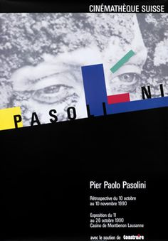 Jeker, Werner poster: Cinematheque Suisse - Pier Paolo Pasolini