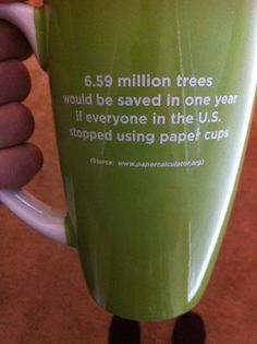 Stop using papercups...