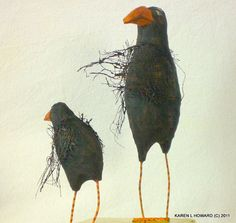 """Crows Ravens:  #Crow ~ """"Wash Those Hands THEN You May Have Your Roadkill,"""" by KarenLHoward."""