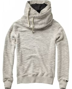 hooded sweater with double collar - Sweats - Scotch & Soda Online Shop