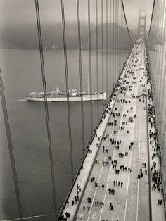 Golden Gate bridge - Opening Day, 1937