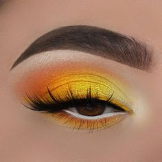 makeup yellow * makeup yellow ` makeup yellow dress ` makeup yellow eyeshadow ` makeup yellow outfit ` makeup yellow morenas ` makeup yellow aesthetic ` makeup yellow and orange ` makeup yellow and pink Makeup Eye Looks, Eye Makeup Art, Clown Makeup, Cute Makeup, Smokey Eye Makeup, Skin Makeup, Makeup Inspo, Eyeshadow Makeup, Makeup Ideas