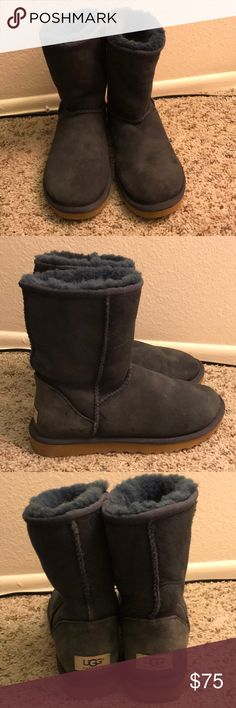 Navy Blue short uggs Good condition. Size 8 women UGG Shoes Winter & Rain Boots