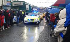 This is the 2012 BMW 5 Series which has been loaned to the PSNI by BMW for the Olympic torch relay. Seen here in Main Street within Saintfield on the last day of the torch being in Northern Ireland.    **More images and videos to follow in the next few For anything -  bmw tuning related -