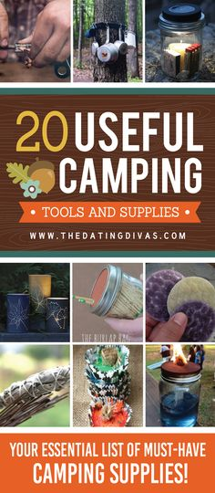 Brilliant hacks and ideas for all the supplies you need to bring camping! Several camp lists in one pin...tons of great ideas!