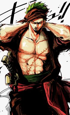 Roronoa Zoro. One Piece Anime. Cool fanart