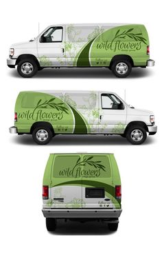 Explore top designs created by the very talented designer community on Get ideas & inspiration for your next design project. Van Signage, Vehicle Signage, Vehicle Branding, Flower Truck, Van Wrap, Van Design, Cargo Van, Truck Art, Truck Design