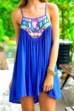 Stylish Spaghetti Strap Printed Spliced Women's Dress Summer Dresses | RoseGal.com Mobile