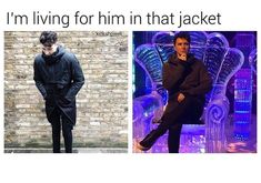 and phil taking photos of him in that jacket