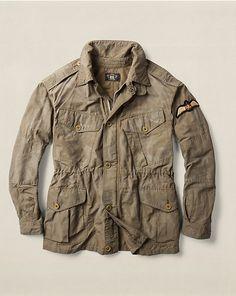 RRL Rawlins Military Jacket - Cloth  Jackets & Outerwear - RalphLauren.com