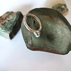 Larimar blue handmade ring by glacier jewellery design