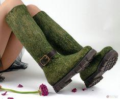 Сапожки с сжатым голенищем Felt Boots, Oxford Shoes, Dress Shoes, Flats, Felting, Men, Fashion, Loafers & Slip Ons, Moda