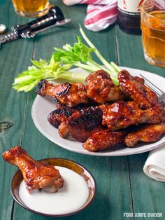 Baked BBQ Chicken Wings simple sticky, flavorful, baked BBQ chicken wings. Recipe from: Fork Knife Swoon Makes: 4 Servings Ingredients 3 lbs chicken wings, separated into wings and drumstcks (often packaged together as party wings) 1-1/2 cups of your favorite barbecue sauce