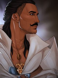 OMG, the noise I made when I saw this.......Magister Dorian Pavus by Merwild... Excuse me, I need to go romance him again...