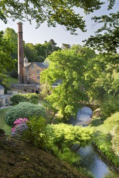 the garden at Quarry Bank Mill, Styal, Cheshire