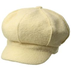 SCALA Boiled Wool Newsboy (Ivory) Caps ( 25) ❤ liked on Polyvore featuring  accessories 8b14666536d4