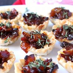 Baked Brie & Bacon Jam Phyllo Cups! only 5 ingredients + a video in the post.