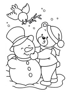 Winter Coloring Sheets Free Printable Beautiful Printable Winter Wonderland Coloring Pages at Getcolorings Kids Christmas Coloring Pages, Coloring Pages Winter, Kids Printable Coloring Pages, Snowman Coloring Pages, Sports Coloring Pages, Bear Coloring Pages, Coloring Sheets For Kids, Coloring Pages To Print, Coloring Books