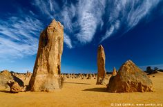 """The Pinnacles Desert, Western Australia (well worth the """"road-trip"""" to get there before sunset!) My own personal highlight of NYCGB world tour 1999!"""