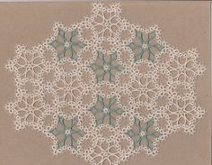 Tatted  DOILY  readymade Tatting  Ecru/Sage  4 Any by lacemakermom, $159.99