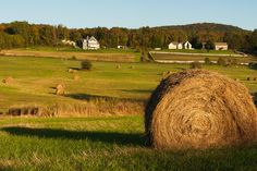 Hay There...at Sundown on the equinox. Westford Vermont. ][OC] [4169x2774] via Classy Bro