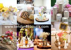 centre de table rondin de bois pour décoration de mariage rustique - Tendance Boutik