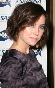 Jessica Stroup short bob hairstyle