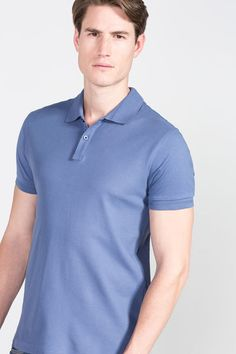 Cortefiel Embroidered polo Blue