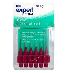 Boots Expert TePe 0.5mm Interdental Brushes 6s 12 Advantage card points. Boots Expert TePe 0.5mm Interdental Brush 6s. Six brushes and case. Ideal for use with a brace or bridge and to access those hard to reach places. FREE Delivery on orders ove http://www.MightGet.com/february-2017-1/boots-expert-tepe-0-5mm-interdental-brushes-6s.asp