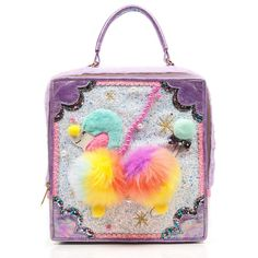 This poodle-licious handbag has us all squealing with over cuteness joy this season. Pom poms, fluff, glitter, embroidery and appliqué make up this lovey boxy pastel handbag. Irregular Shoes, Irregular Choice, Novelty Handbags, Vintage Handbags, Kawaii Bags, Stiletto Shoes, Beautiful Shoes, Women's Pumps, Poodle