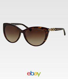 b6bd97f9a1235 Michael Kors Women MK2009 GSTAAD 300613 Havana Metal Cat Eye Sunglasses