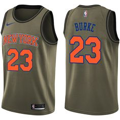 Nike Knicks  23 Trey Burke Green NBA Swingman Salute to Service Jersey Nba  Swingman Jersey 3952b24e9